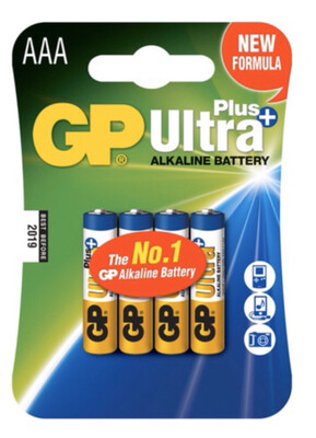 GP Ultra Plus AAA Batteries X4
