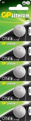 1x CR1616 3v 55Mah Lithium Battery