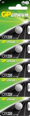 1x CR1220 3v 36Mah Lithium Battery
