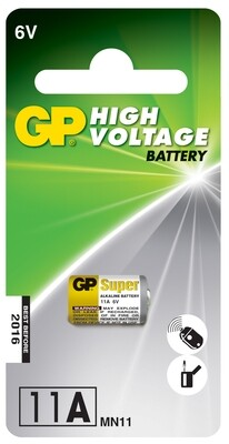 1x GP High Voltage 11A 6v Alkaline Battery