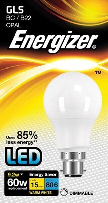 B22 LED Dimmable Lamp - Warm White 9w 60w Equivalent