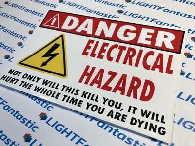 Danger Sticker - Joke Electrical Hazard