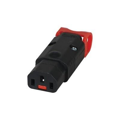 IEC C13 Locking Rewireable Socket