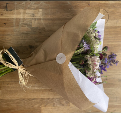 Wrapped Flower Bunch