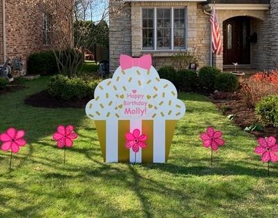 Cupcake Sign Rental