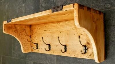 Garderobe aus antikem Holz 60cm