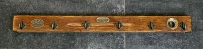 Hakenleiste aus antiker Wasserwaage 60cm