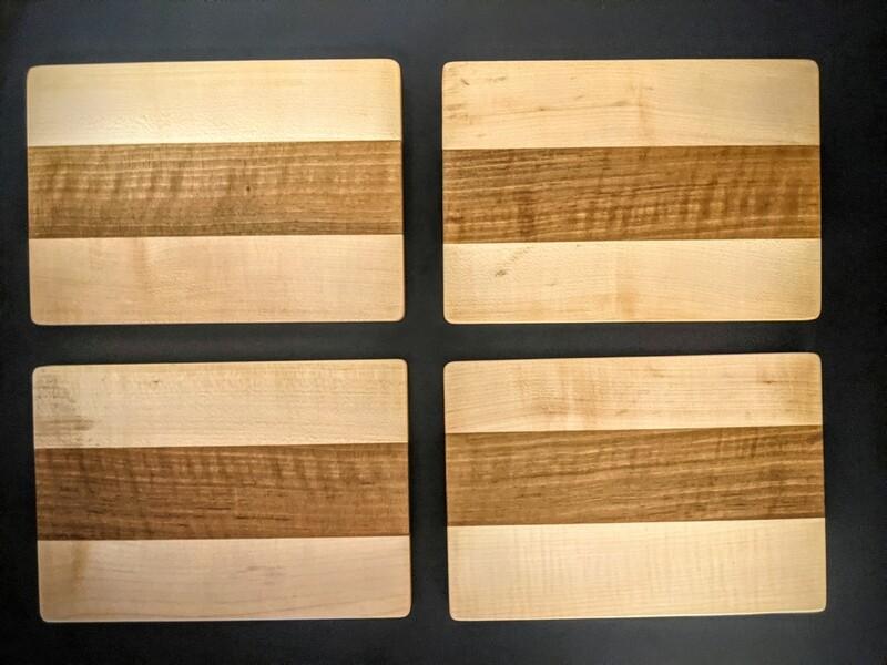 Ahorn/ Nussbaum 2-er Set 24x16.5cm