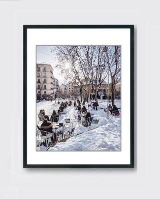 Madrid - Terraza - nieve