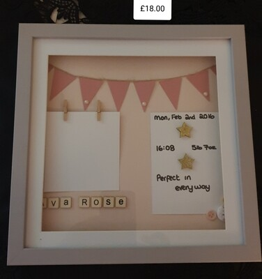 'New Baby' Shadow Box Frame
