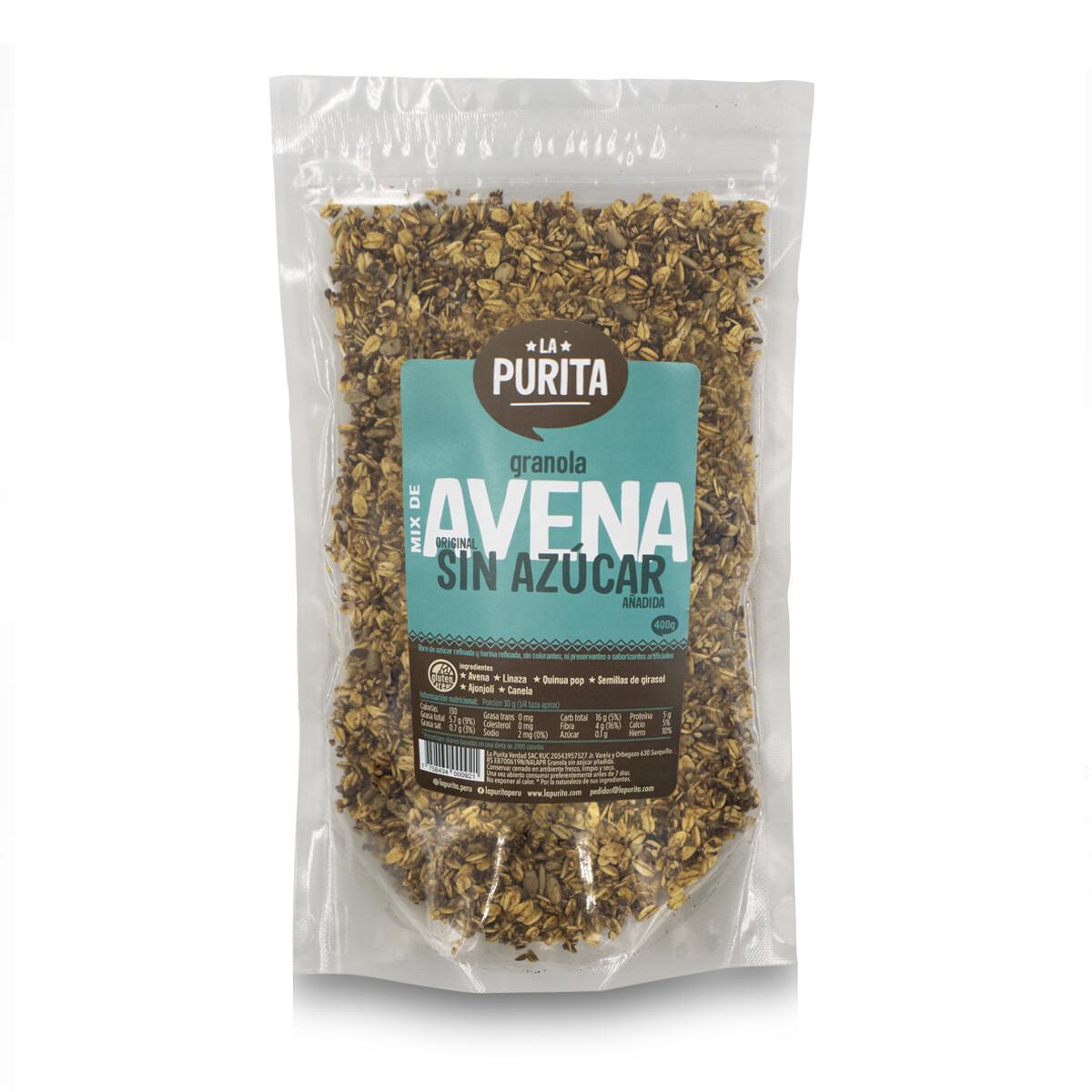 Granola Mix de AVENA - Original SIN Azúcar Añadida x 400grs X 3 UNDS