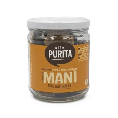 Galletas de Avena, Cacao y Vainilla rellenas de Maní x 210 grs
