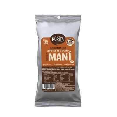 Galletón de Avena y Cacao relleno de maní x 6 unds de 35 grs