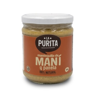 Mantequilla de Mani con Panela y Sal de Maras x 430 grs