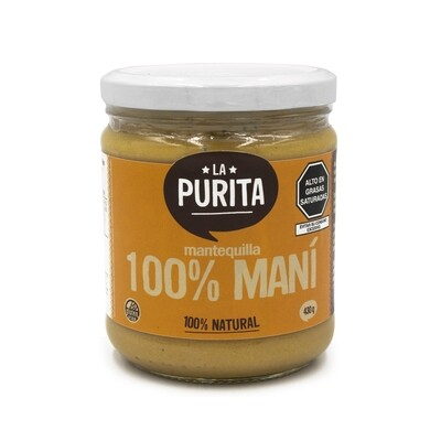 Mantequilla 100% Maní x 430 grs