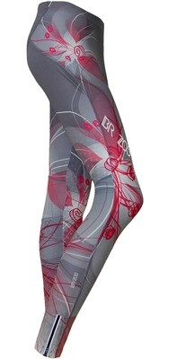 Long running tights Floral Grey