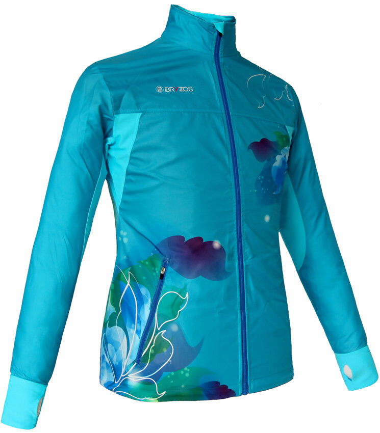 Light weight jacket | Flora Turquoise