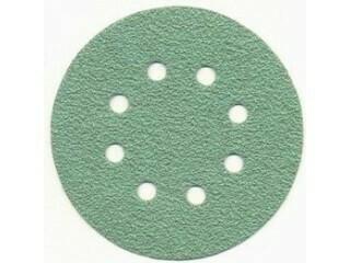 Шлиф. диск /зелёный/ d-125 мм, Р- 80 (8 отв.)