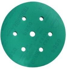 Шлиф. диск /зелёный/ d-150 мм, Р- 36 (7 отв.)