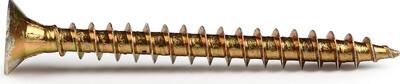 Саморез 6,0×40 мм - жёлтый/универсальный (2500/3000 шт./ящик) - 250 шт./упак.