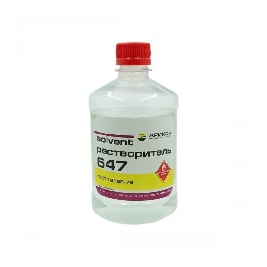 Растворитель 647, Бутылка ПЭТ - 1 л.