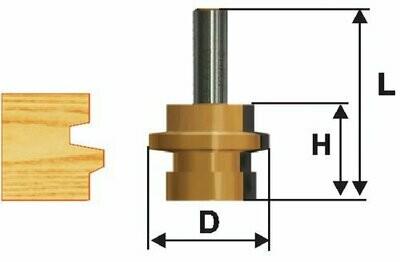 Фреза комбинированная универсальная  d 30,5 х 26 мм,  хвостовик 12 мм