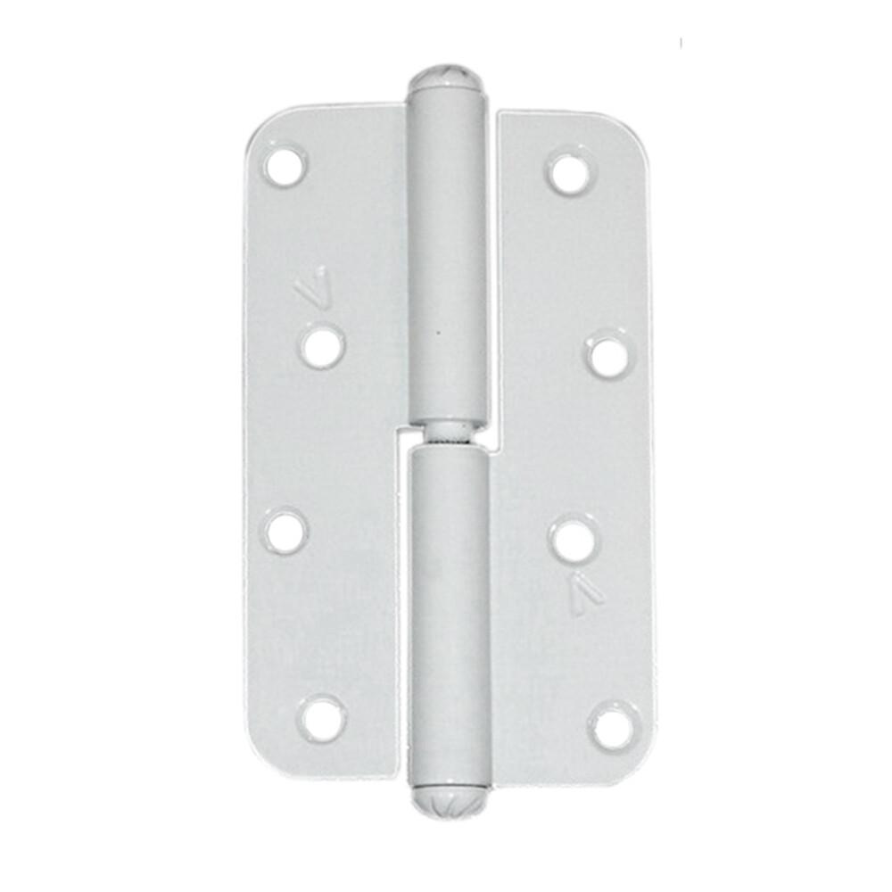 Петля накладная ПН1-110 А полимерное покрытие, левая, белая.