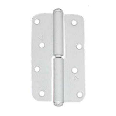 Петля накладная ПН1-110 А полимерное покрытие, правая, белая.