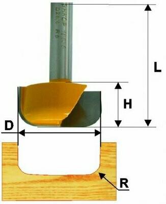 Пазовая фасонная d 28,6 х 13 мм, r 5  хвостовик 8 мм