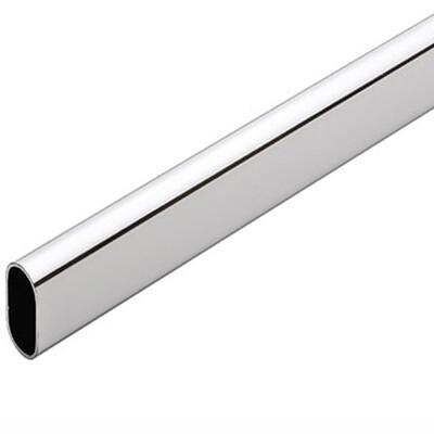 Труба, хром, овальная, L-3000 мм, толщина 0,8 мм