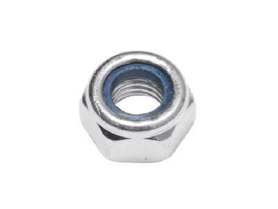 Гайка со стопорным кольцом М6, со стопорным кольцом, цинк DIN 985