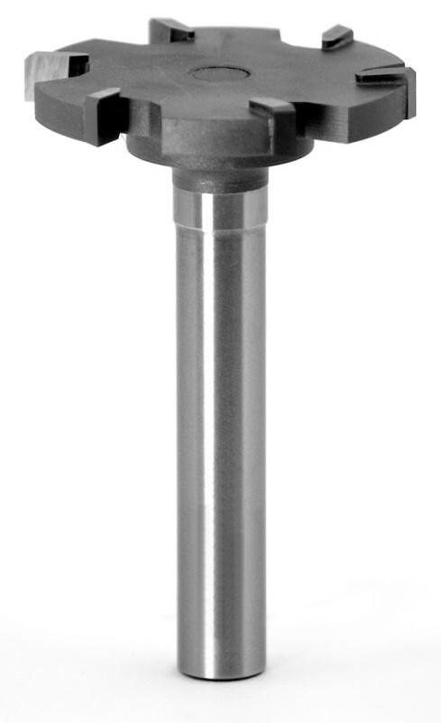 Фреза пазовая прямая для выравнивания поверхностей (для слэбов) D52 H6 TL86 хвостовик 12 мм