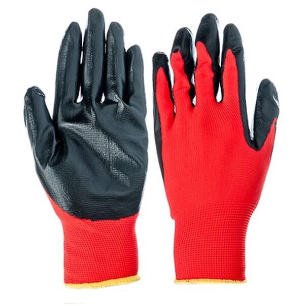 Перчатки с нитриловым покрытием защитные промышленные