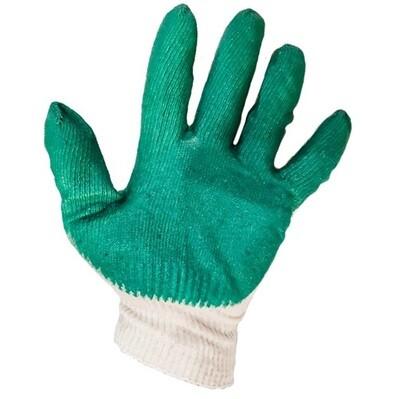 Перчатки зелёные х/б нитриловые латексные