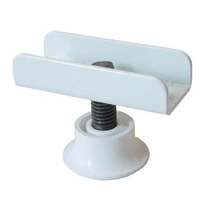 Опора регулируемая П-образная белая для ДСП 16 мм