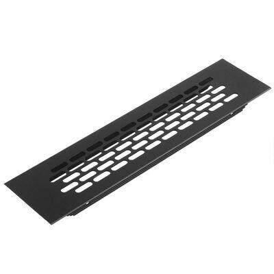 Решетка вентиляционная черный - 245 х 60 мм
