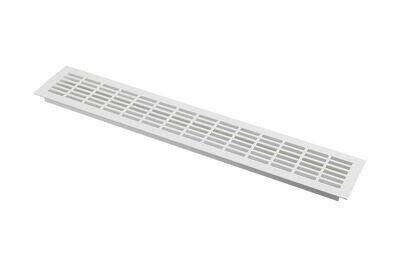Решетка вентиляционная белая - 480 х 80 мм