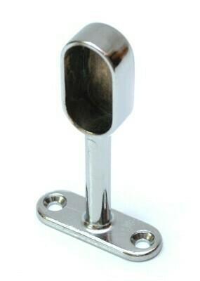 Штангодержатель для овал. трубы на ножке 30x15, регулируемый, глухой
