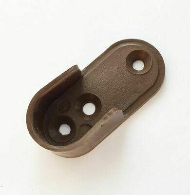 Штангодержатель для труб овальных, пластиковый, коричневый.