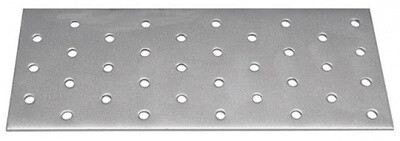 Пластина соединительная 40х300х2,0 оцинкованная (20 шт./упак.)
