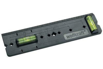Линейка для разметки стены под розетки \ Wolfcraft