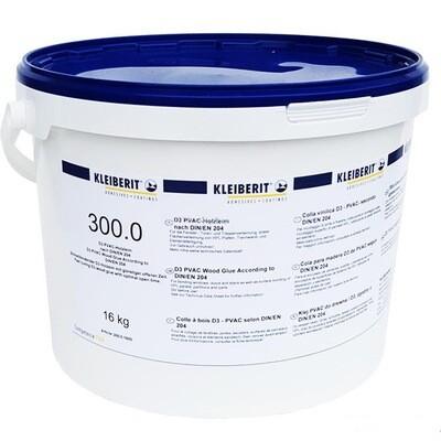 """300.0 - индустриальный клей """"KLEIBERIT"""" DIN EN 204, качество склеивания D3 (16 кг.)"""