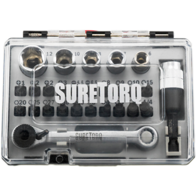 Набор ударных насадок и мини ключа с трещеткой 27 шт. // SURETORQ