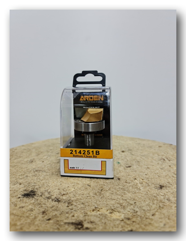 Фреза для выравнивания дна (слэбов) /с верхним подшипником/ d 38 х 11.9 мм, общая L-60 мм, хвостовик 12 мм