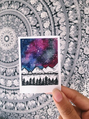 Original galaxy polaroid piece