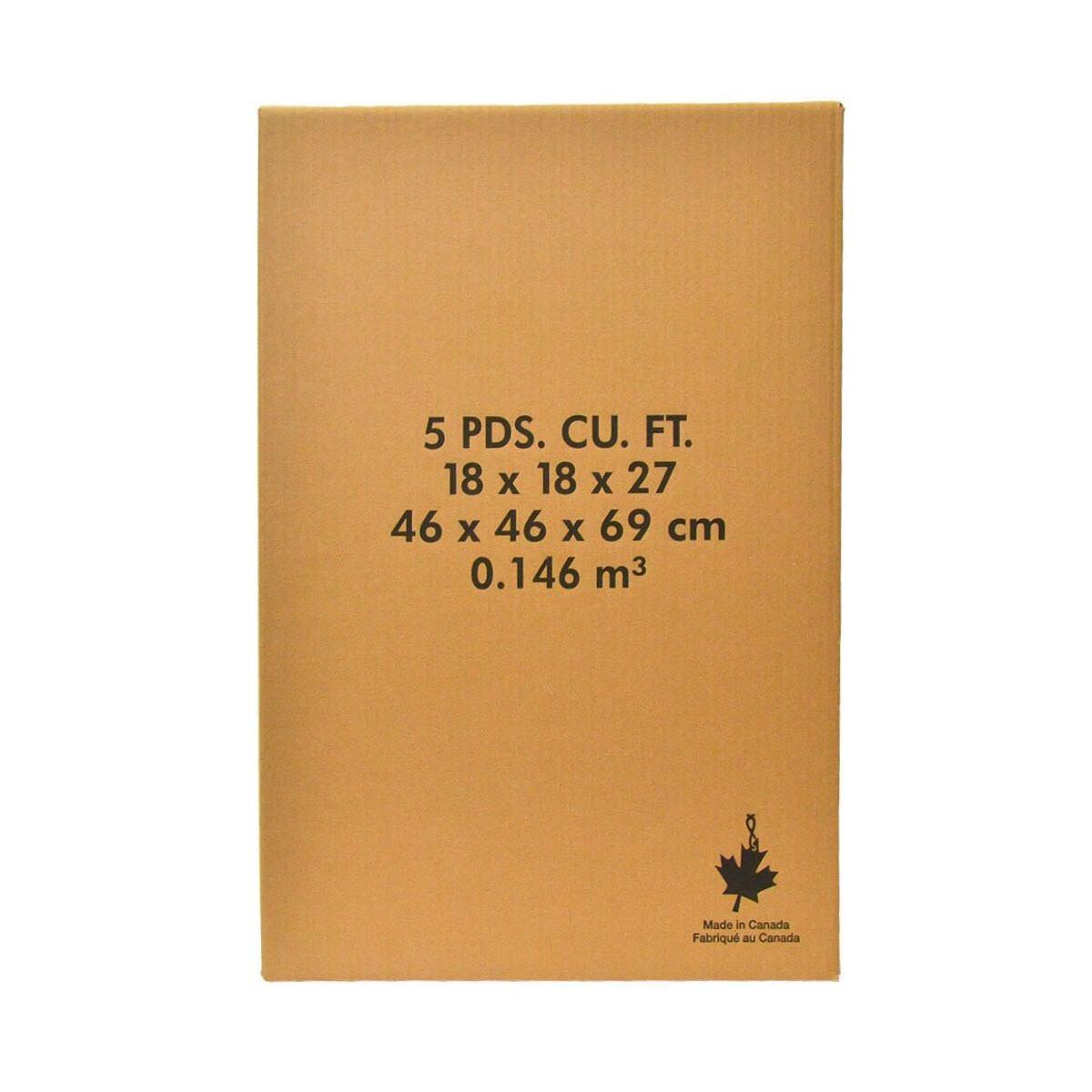 5 Cubic FT Carton