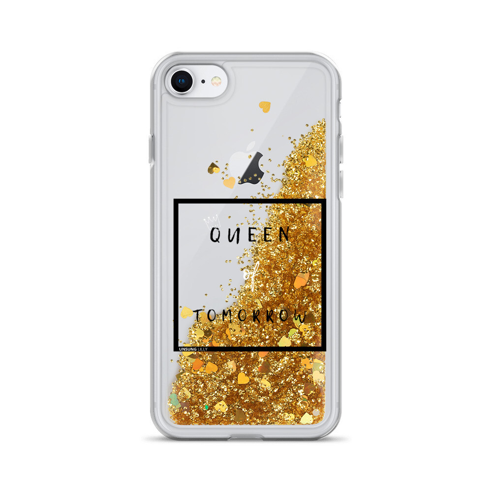 Liquid Glitter 'Queen of Tomorrow' iPhone Case
