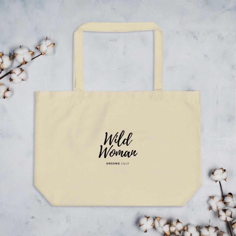 Large organic 'Wild Woman' tote bag