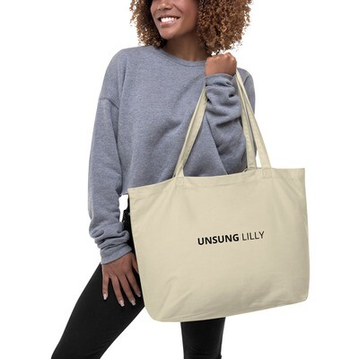 Large organic 'Unsung Lilly' tote bag