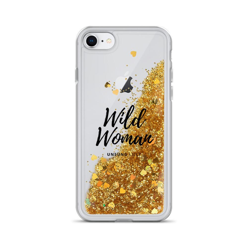 Liquid Glitter 'Wild Woman' Phone Case